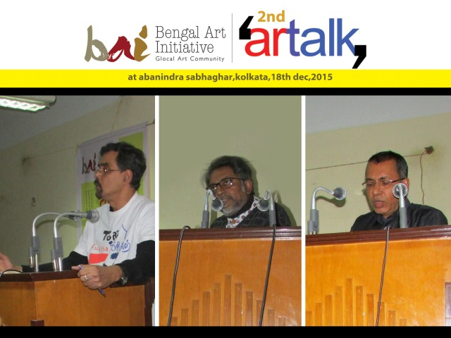 (From left ) Prof. Sunanda K Sanyal, Speaker Partha Dasgupta and Tapan Bhattacharya