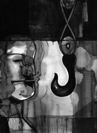 "Naba Kumar Chakrabarty Untitled-22 Ink on acid free paper (Fabriano)) 15"" x 11"" 2016"