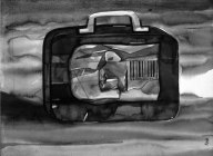 """Naba Kumar Chakrabarty Untitled-26 Ink on acid free paper (Cartridge)) 16"""" x 12"""" 2016"""