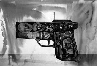 "Naba Kumar Chakrabarty Untitled-5 Ink on acid free paper (Canson) 20"" x 28"" 2016"